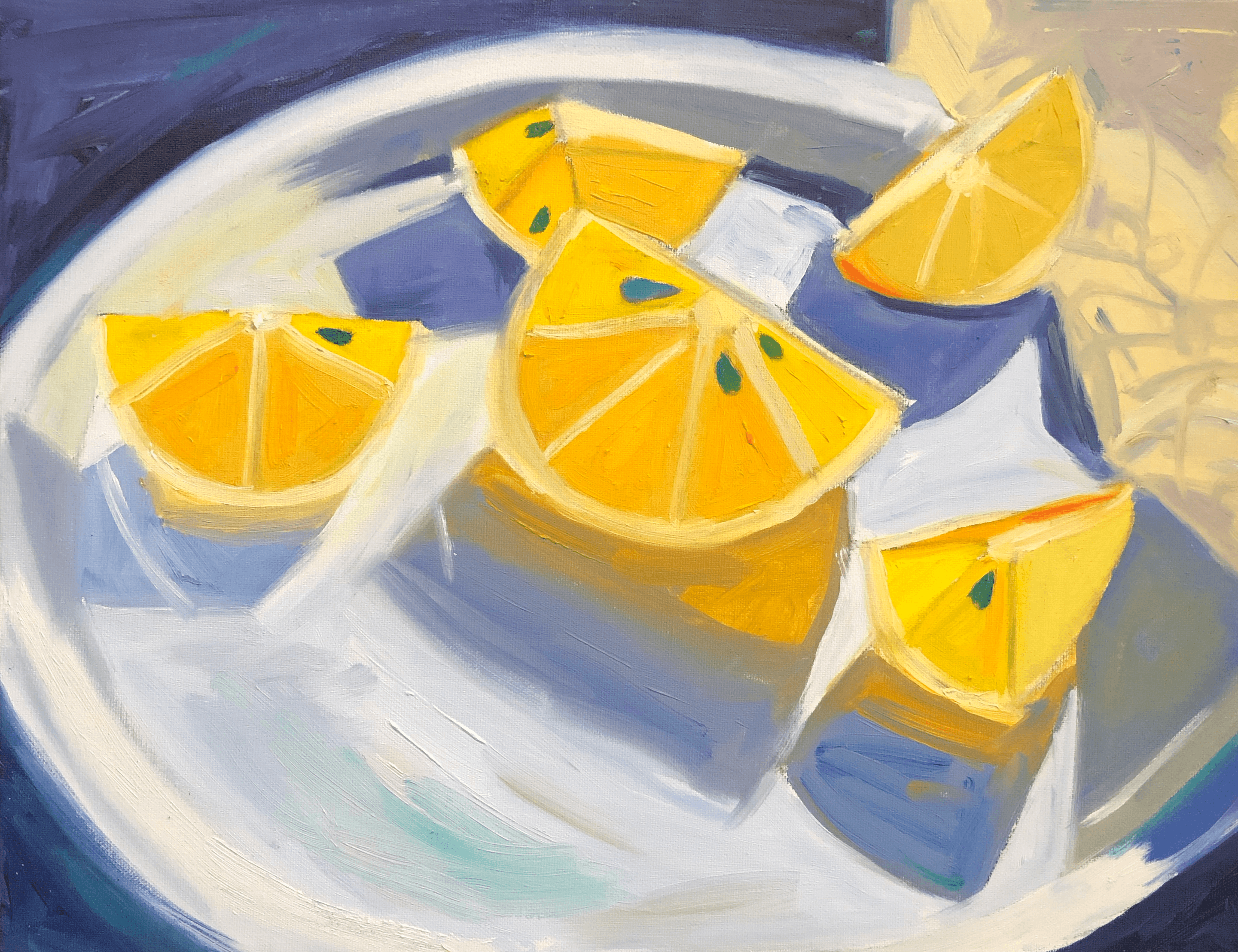 Lemons in morning light